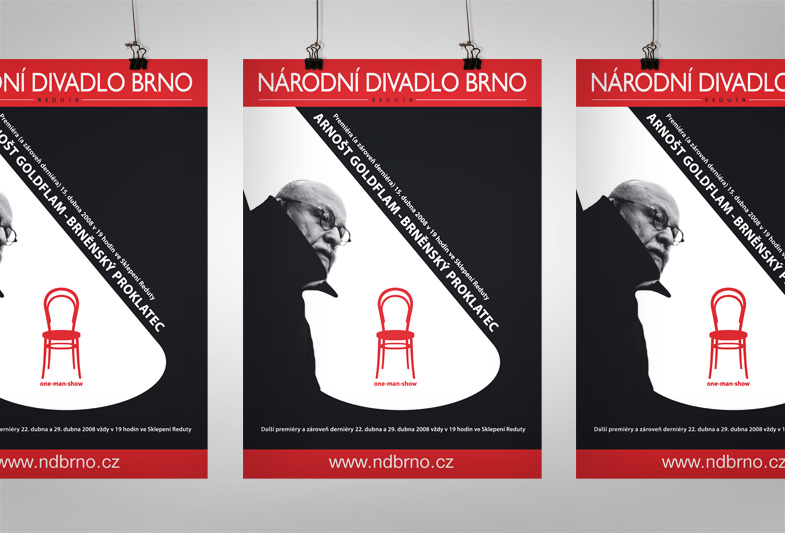 Plakát pro Národní divadlo Brno