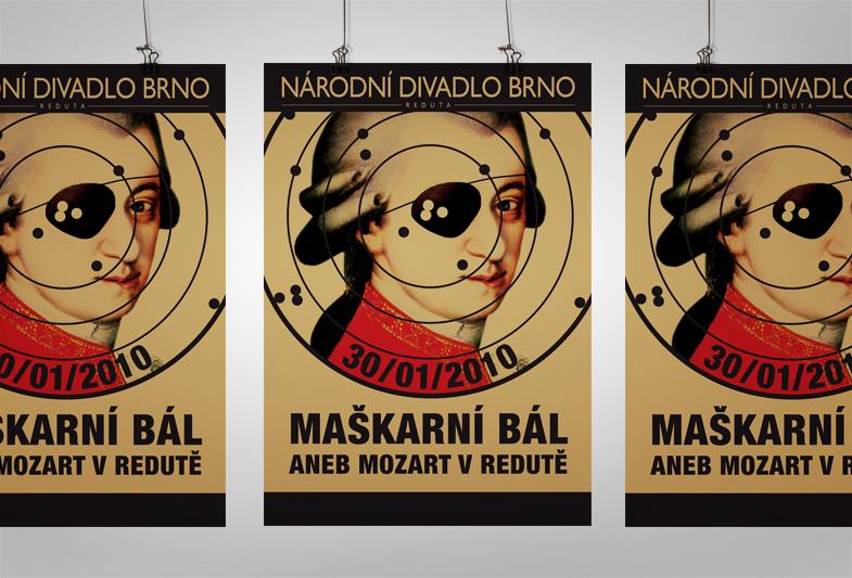 Plakát pro Národní divadlo Brno – Maškarní bál