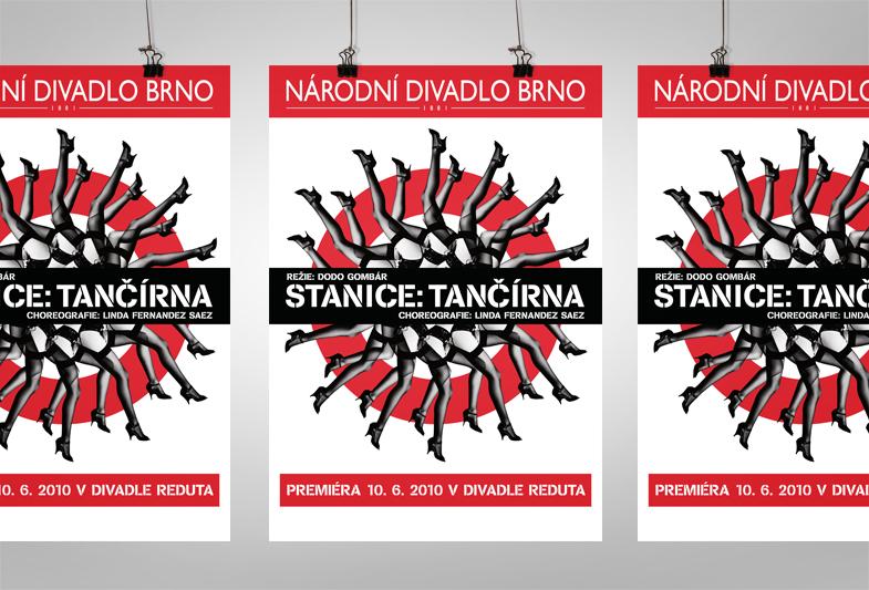 Stanice tančírna – Grafický návrh plakátu