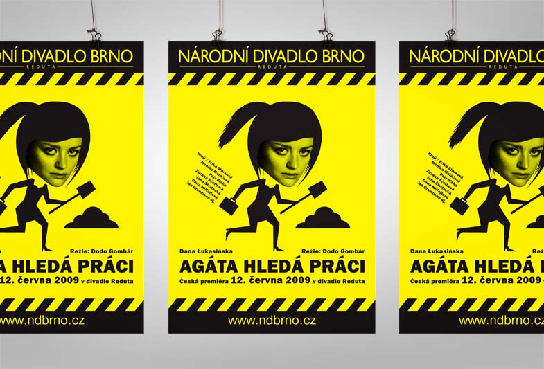 Plakát – Agáta hledá práci