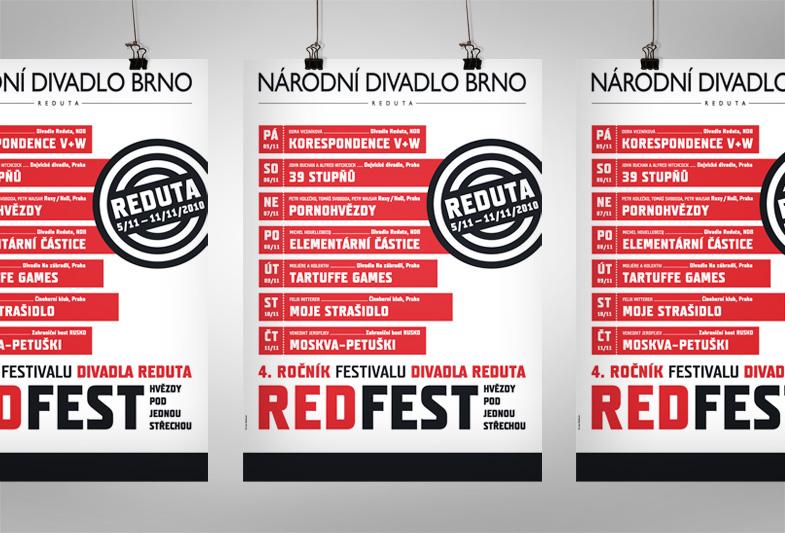 Plakát pro Národní divadlo Brno – REDFEST