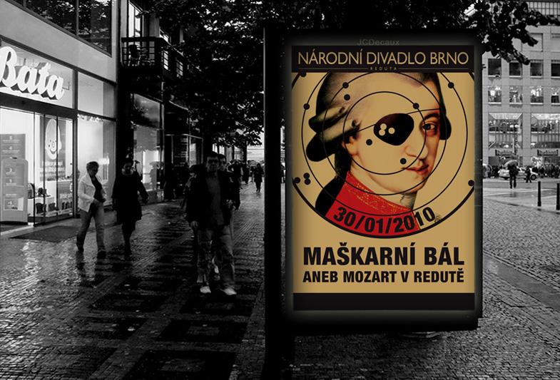 Billboard pro Národní divadlo Brno – Maškarní bál
