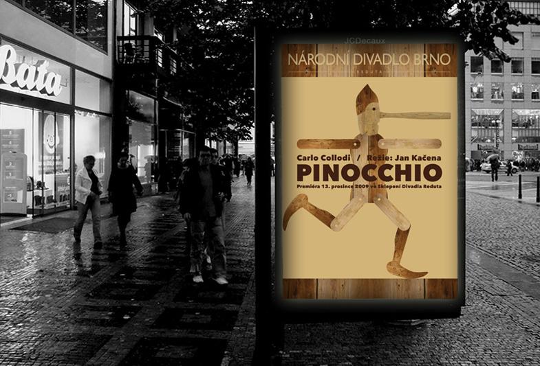 Billboard pro Národní divadlo Brno – Pinocchio