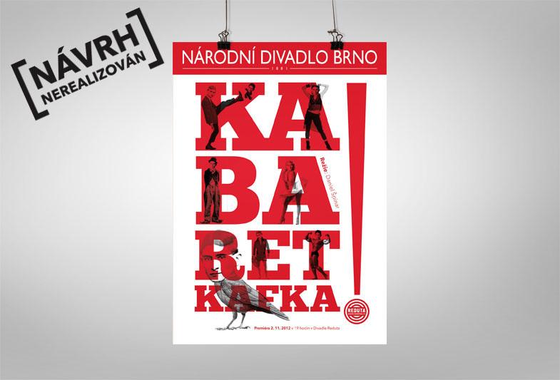 Návrh plakátu Kabaret Kafka