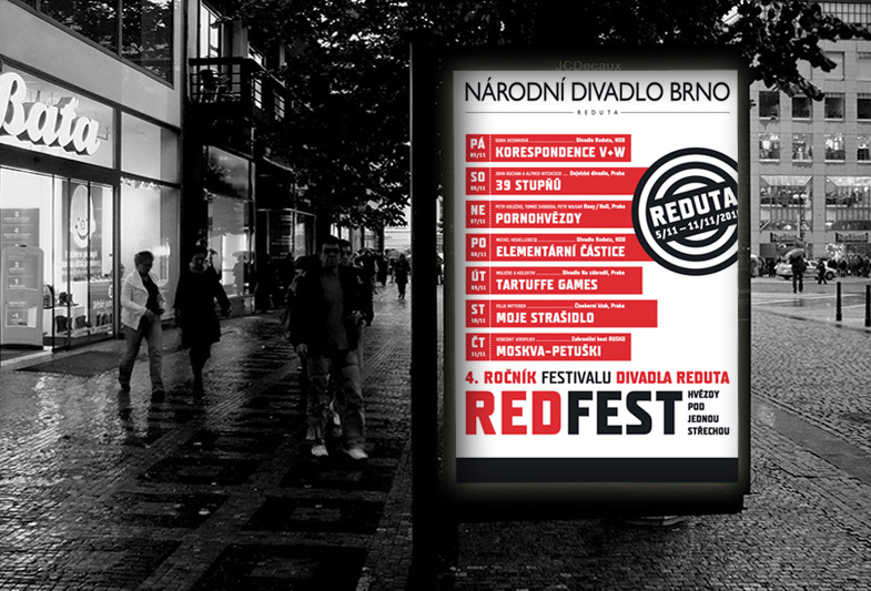 REDFEST billboard