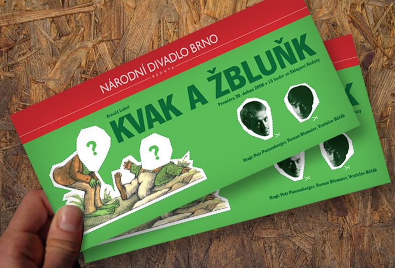 Design vstupenky Kvak a Žbluňk