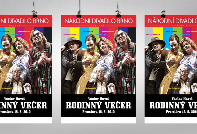 Plakát – Národní divadlo Brno – Rodinný večer