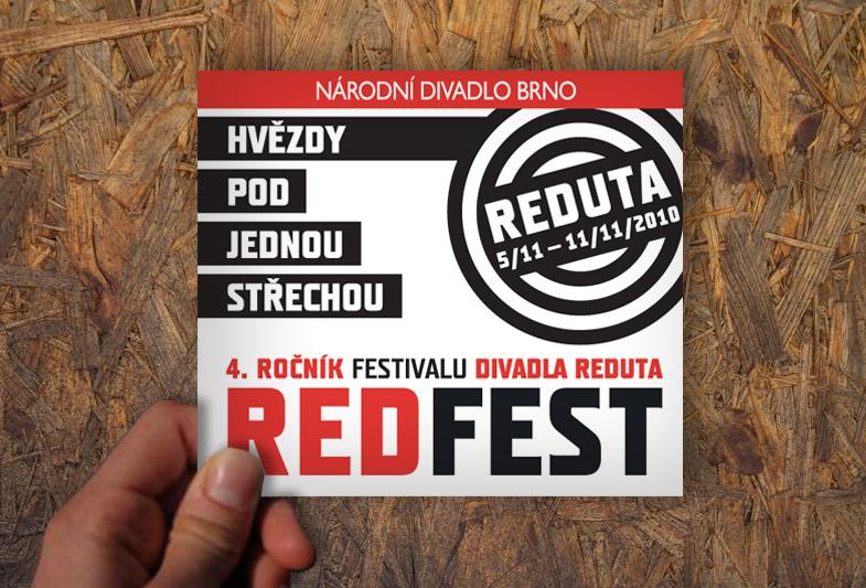 Leták festivalu REDFEST