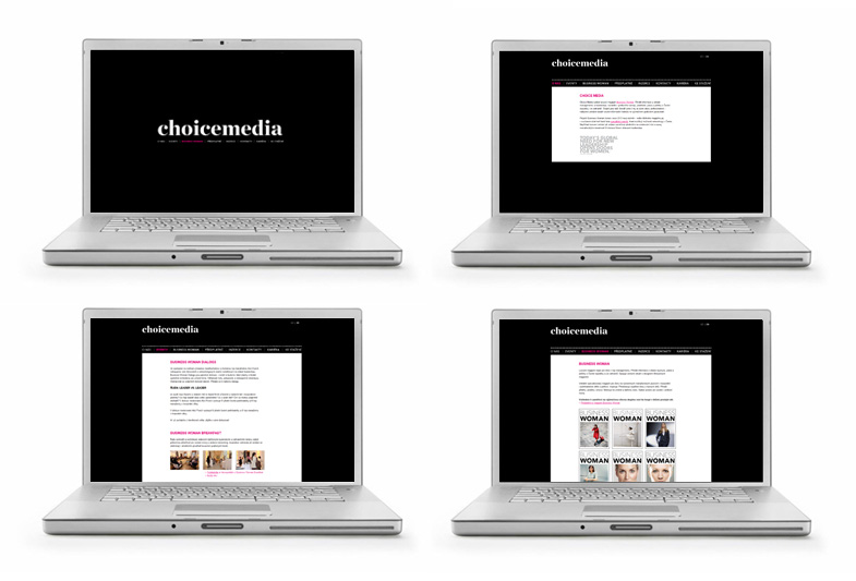 Návrh webové stránky choicemedia.cz