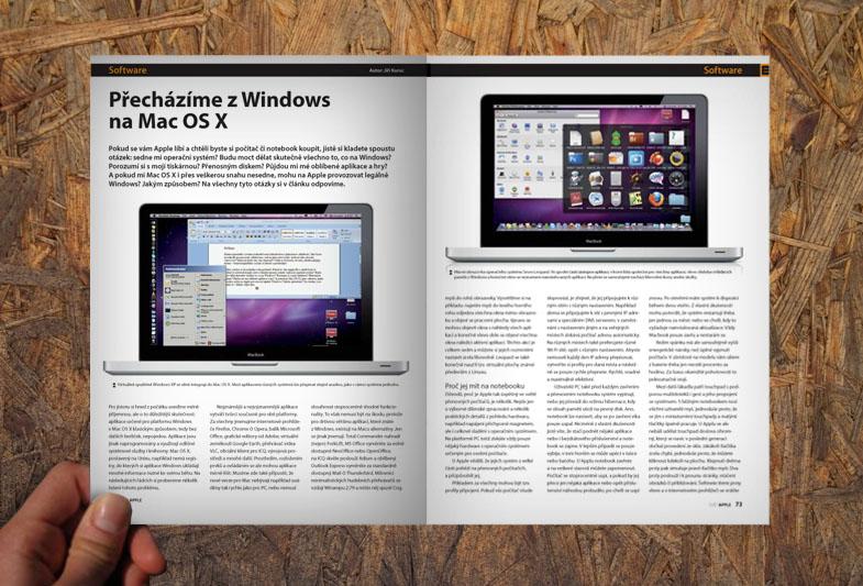 Sazba časopisu Svět Apple