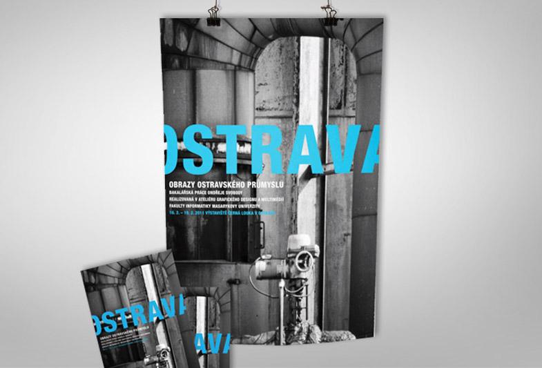 Obrazy ostravského průmyslu – plakát výstavy