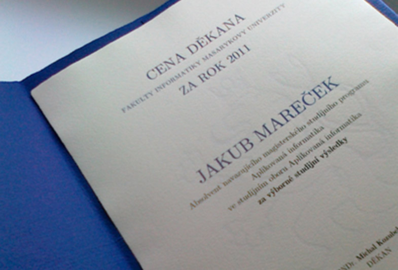 Redesign diplomu Cena Děkana