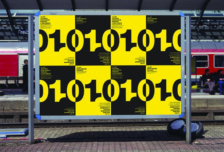 Billboard k 10. výročí Ateliéru grafického designu a multimédií