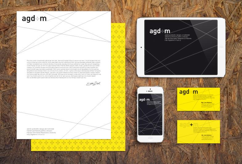 Vizuální styl Ateliéru grafického designu a multimédií FI MU